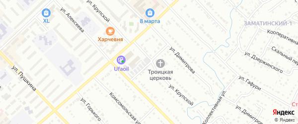 Матинский переулок на карте Белорецка с номерами домов