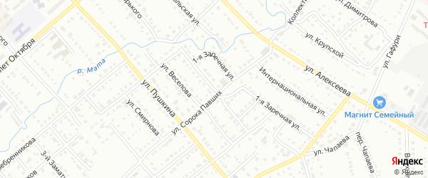 Заречная 2-я улица на карте Белорецка с номерами домов