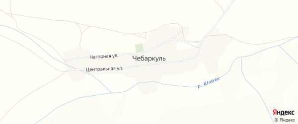 Карта деревни Чебаркуля в Башкортостане с улицами и номерами домов