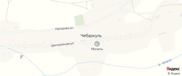 Нагорная улица на карте деревни Чебаркуля с номерами домов