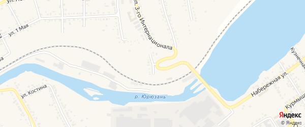 Станционная улица на карте Юрюзани с номерами домов