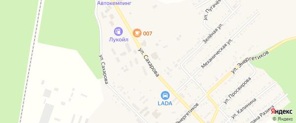 Улица Сахарова на карте Юрюзани с номерами домов