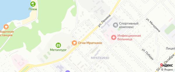 Улица Ленина на карте Белорецка с номерами домов