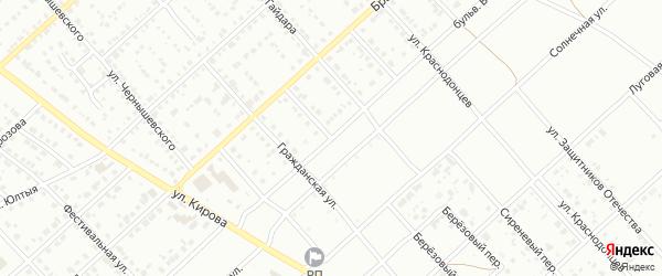 Березовый переулок на карте Белорецка с номерами домов