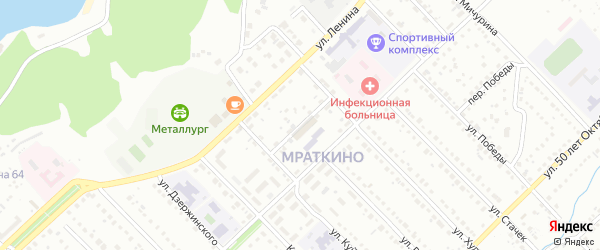 Переулок Куйбышева на карте Белорецка с номерами домов