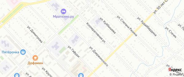 Переулок Дзержинского на карте Белорецка с номерами домов