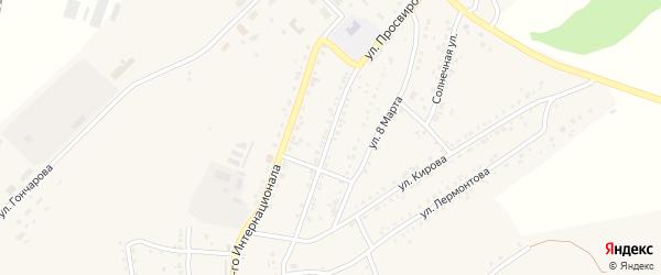 Улица Просвирова на карте Юрюзани с номерами домов