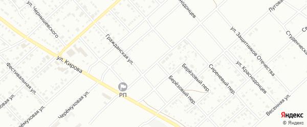 Солнечная улица на карте деревни Елани с номерами домов