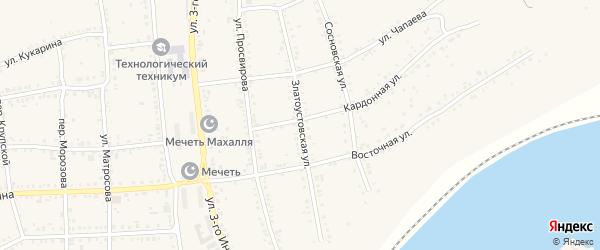 Златоустовская улица на карте Юрюзани с номерами домов