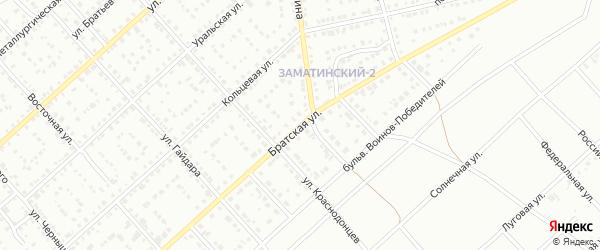Братская улица на карте Белорецка с номерами домов