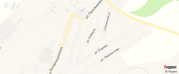 Улица 8 Марта на карте Юрюзани с номерами домов
