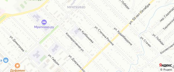 Улица Куйбышева на карте Белорецка с номерами домов