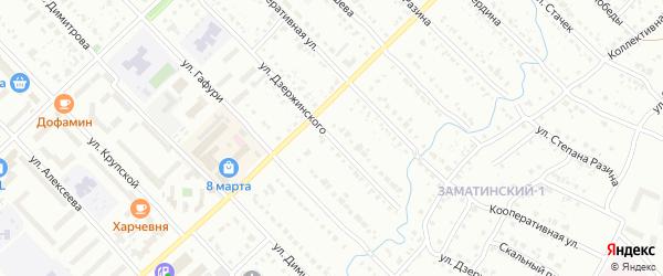 Улица Дзержинского на карте Белорецка с номерами домов