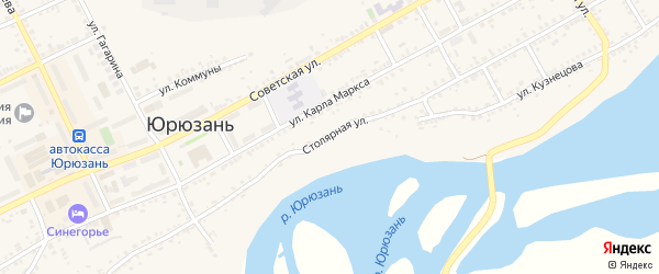 Столярная улица на карте Юрюзани с номерами домов