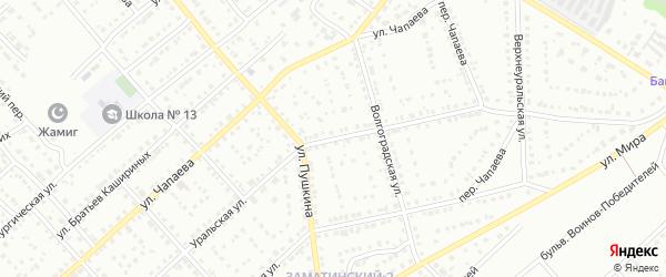 Уральская улица на карте Белорецка с номерами домов