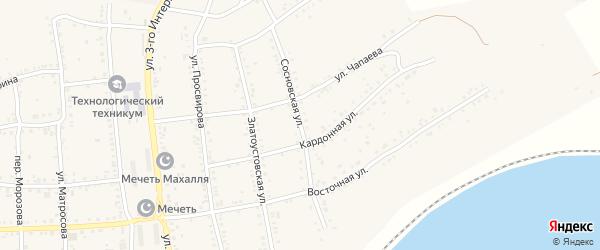 Сосновская улица на карте Юрюзани с номерами домов