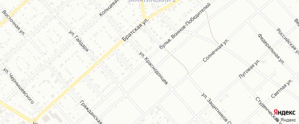 Улица Краснодонцев на карте Белорецка с номерами домов