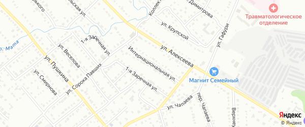 Интернациональная улица на карте Белорецка с номерами домов