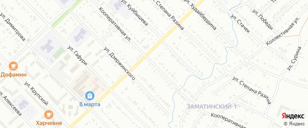 Кооперативная улица на карте Белорецка с номерами домов