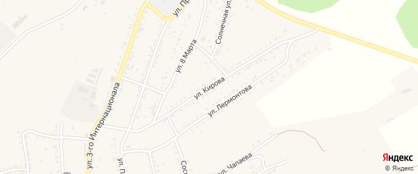 Улица Кирова на карте Юрюзани с номерами домов