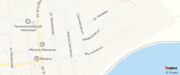 Кардонная улица на карте Юрюзани с номерами домов