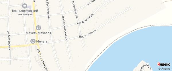 Восточная улица на карте Юрюзани с номерами домов