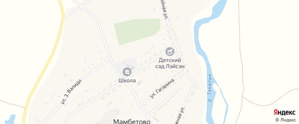 Улица С.Юлаева на карте деревни Мамбетово с номерами домов