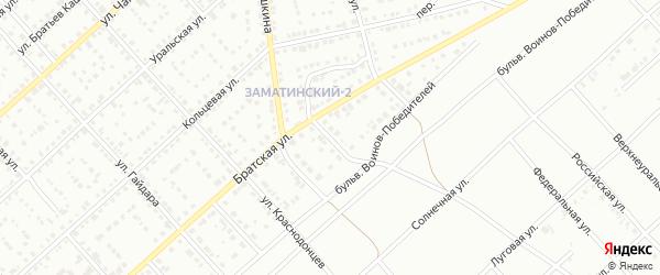 Васильковый переулок на карте Белорецка с номерами домов