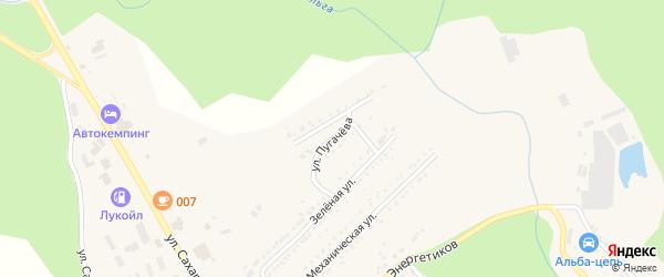 Улица Пугачева на карте Юрюзани с номерами домов