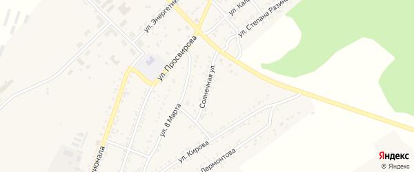 Солнечная улица на карте Юрюзани с номерами домов