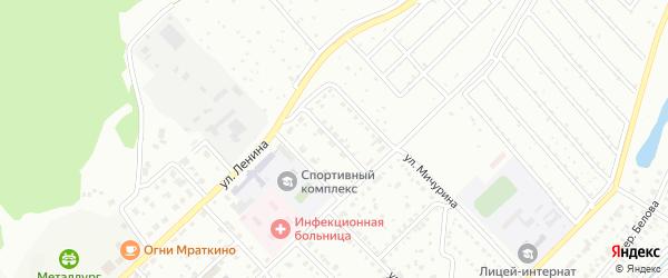 Улица Космодемьянской на карте Белорецка с номерами домов