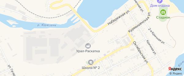 Улица Варганова на карте Юрюзани с номерами домов