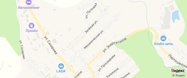 Механическая улица на карте Юрюзани с номерами домов