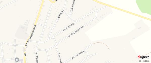 Улица Лермонтова на карте Юрюзани с номерами домов