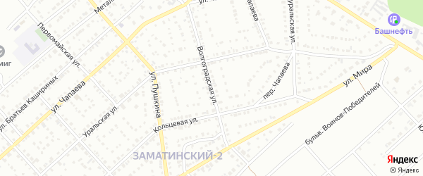 Волгоградская улица на карте Белорецка с номерами домов