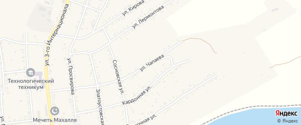 Улица Чапаева на карте Юрюзани с номерами домов