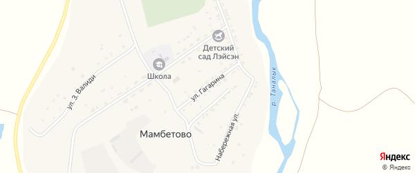 Улица Гагарина на карте деревни Мамбетово с номерами домов