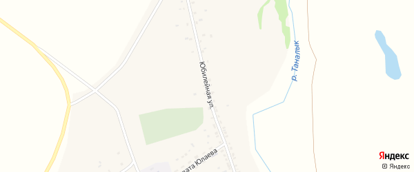 Юбилейная улица на карте деревни Мамбетово с номерами домов