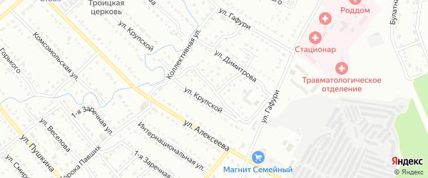 Улица Белая Глина на карте Белорецка с номерами домов