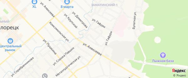 Территория Белая Глина на карте Белорецка с номерами домов