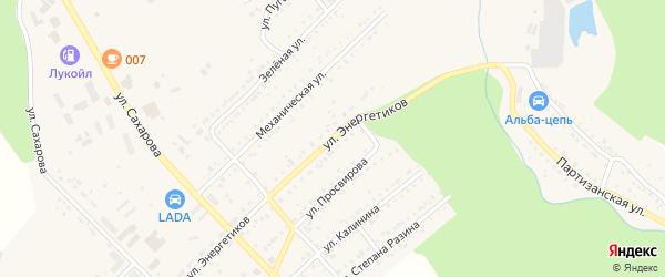 Улица Энергетиков на карте Юрюзани с номерами домов