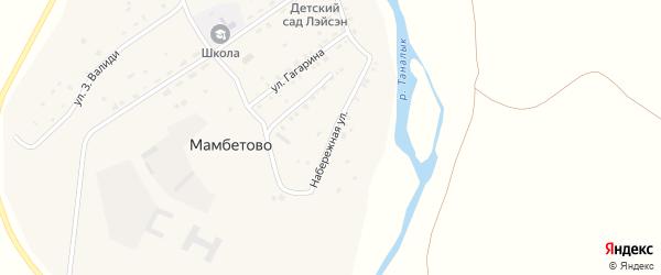 Набережная улица на карте деревни Мамбетово с номерами домов
