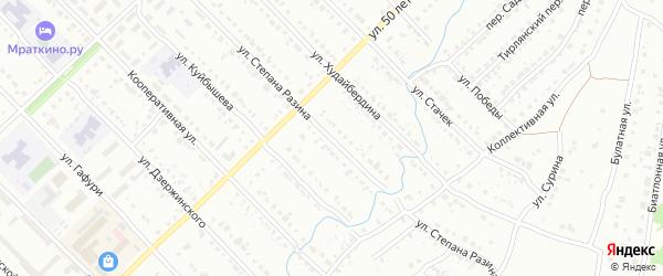 Улица Степана Разина на карте Белорецка с номерами домов