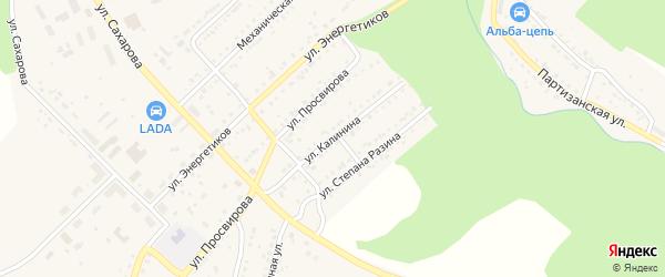 Улица Калинина на карте Юрюзани с номерами домов