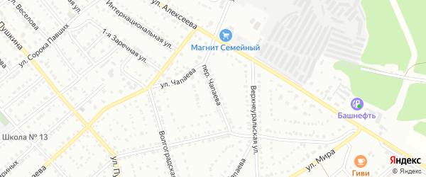 Переулок Чапаева на карте Белорецка с номерами домов