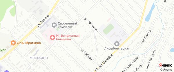 Переулок Победы на карте Белорецка с номерами домов