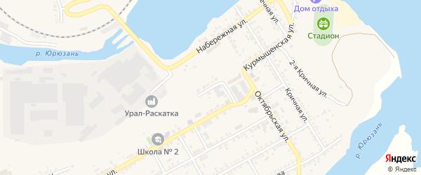 Застенная улица на карте Юрюзани с номерами домов