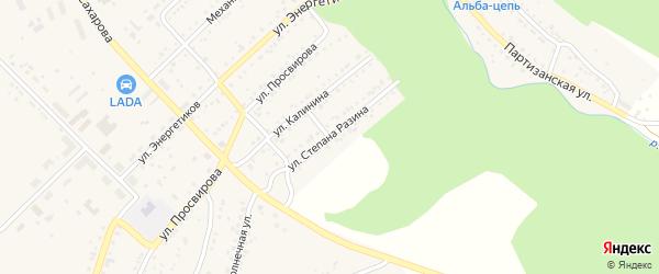 Улица Степана Разина на карте Юрюзани с номерами домов