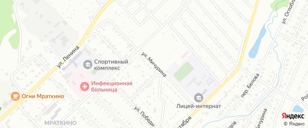 Улица Мичурина на карте Белорецка с номерами домов