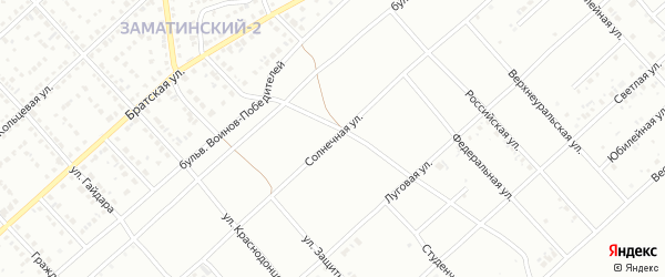Солнечная улица на карте Белорецка с номерами домов